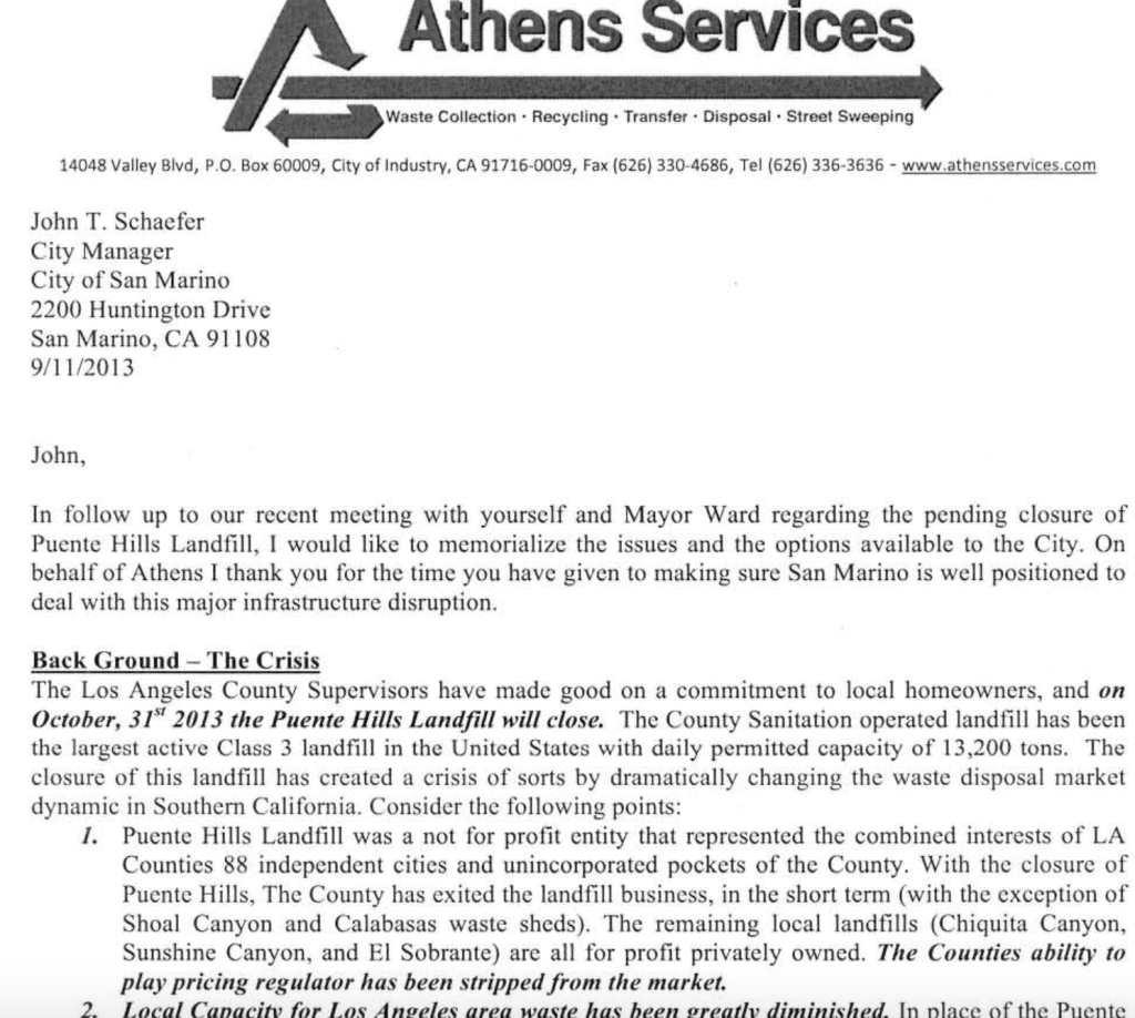 Athens Services's Phony Rate Increase: Ask & Ye Shall